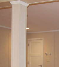Easy Wrap column sleeves in Goldsboro basement