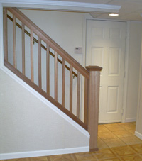 Renovated basement staircase in Sanford