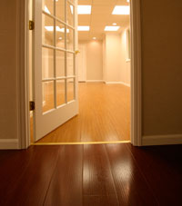 Basement Wood Flooring installed in Kinston, North Carolina