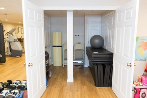 TBF finished basement with home gym in Fayetteville