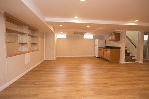 A beautiful, finished basement in Greater Fayetteville