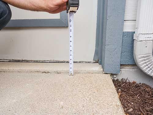 Sunken driveway raised with PolyLevel®