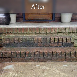Sinking stairs repaired with PolyLevel® Fayetteville