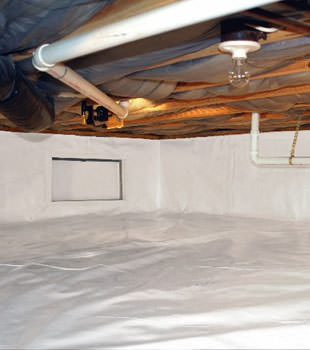 A complete crawl space repair system in Goldsboro