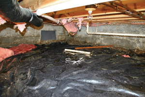 Crawl Space Repair Before in Fayetteville