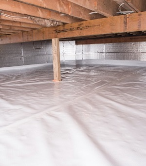 Installed crawl space insulation in Leland