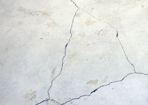 cracks in a slab floor consistent with slab heave in Hope Mills.