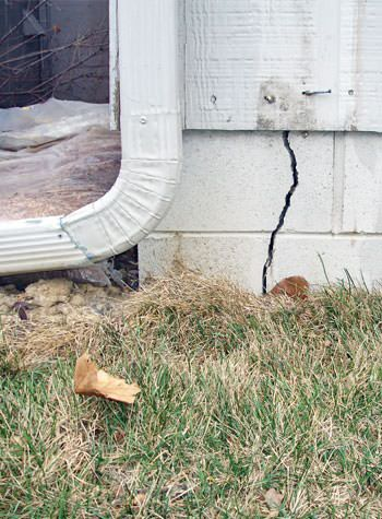foundation wall cracks due to street creep in Dudley