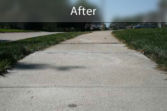 Fixing sunken concrete with PolyLevel® in Fayetteville