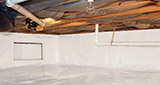 Crawl space moisture control and structural repair in Greater Fayetteville