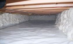 A clean, insulated crawl space in North Charleston, North Carolina