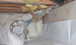 Crawl space vapor barrier system in Kinston, North Carolina