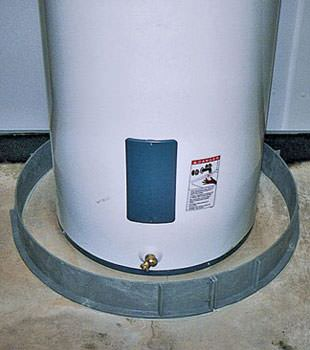 An old water heater in Spring Lake, NC with flood protection installed