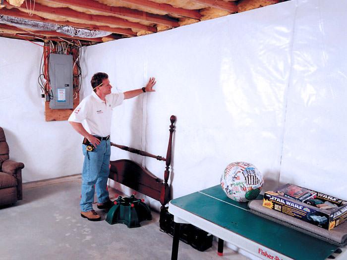 basement wall vapor barrier system in fayetteville wilmington rh ncfoundationrepair com vapor barrier for basement concrete walls Insulating Basement Walls