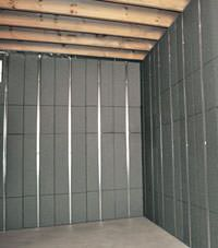 Thermal insulation panels for basement finishing in Greenville, North Carolina