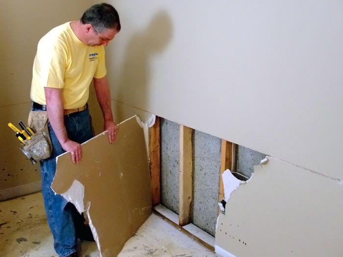 Repair Drywall Damaged Drywall In Fayetteville Wilmington